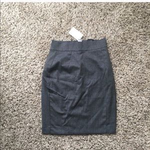 H&M Gray Business Skirt